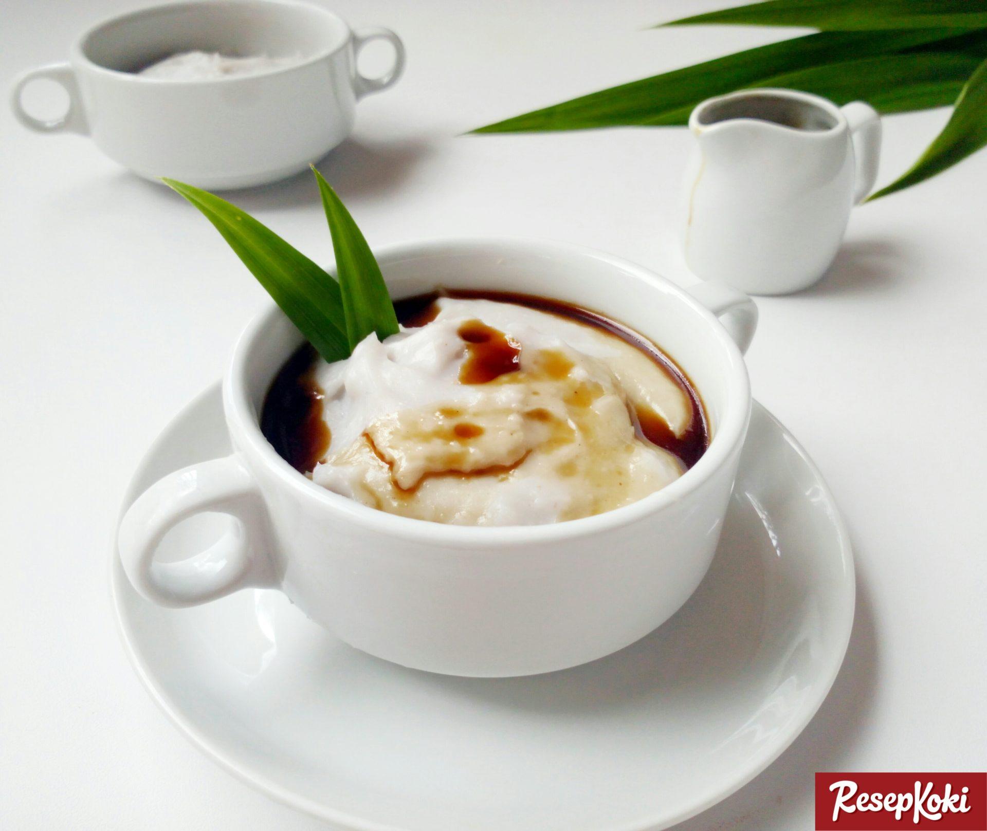 bubur sumsum gurih saus gula merah   resep resepkoki