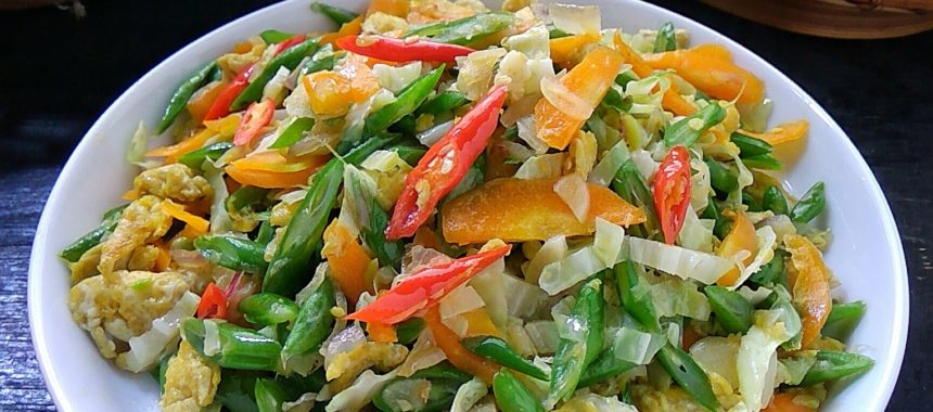 Resep Orak Arik Telur Sayuran