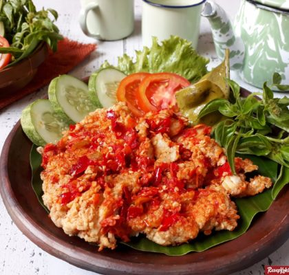 Ayam geprek jogja pedas