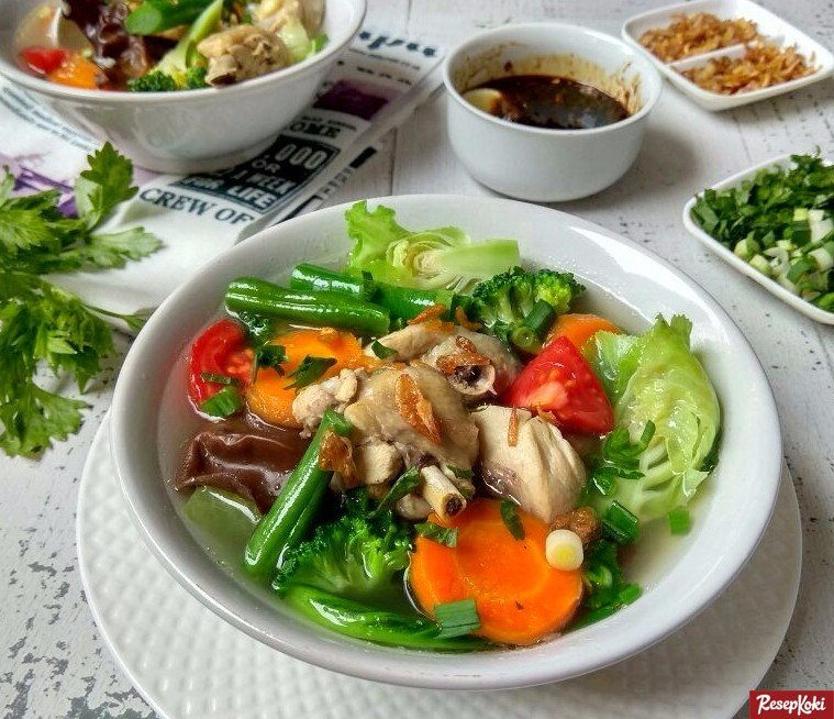 Resep Sayur Sop Ayam Dan Bakso